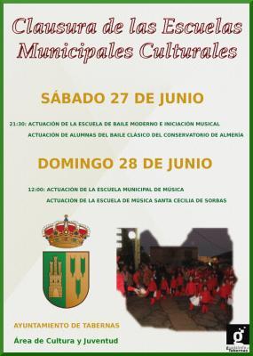 CLAUSURA DE LAS ESCUELAS MUNICIPALES CULTURALES