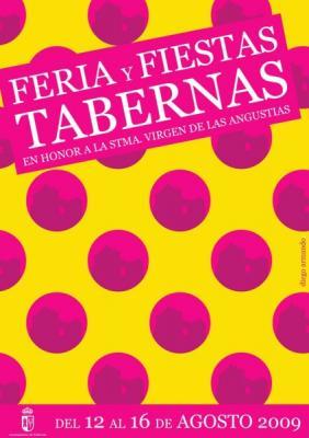 CARTEL ANUNCIADOR FERIA Y FIESTAS DE TABERNAS 2009